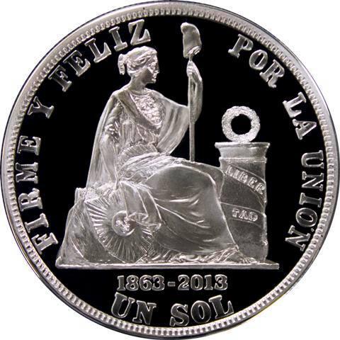 (FOTO) Desde hoy circula monedas de plata para conmemorar 150 años de creación de el Sol ➢ http://t.co/92srMH7p6I