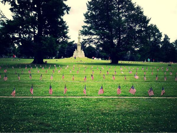 National Cemetery in #Gettysburg. #Gettysburg150 #CivilWar  #neverforget pic.twitter.com/1r4gxDdcKS