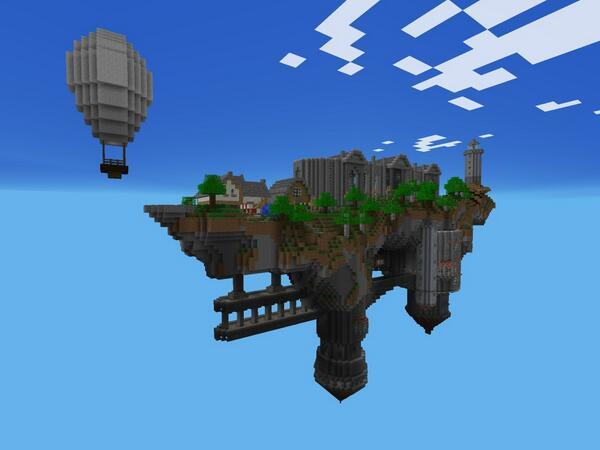 minecraft pe sky island survival map download