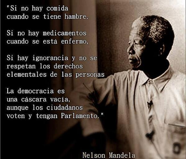 La #Democracia según Nelson #Mandela http://t.co/YdTmd966RF