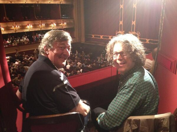 Stephen Fry and Alan Davies at the opera