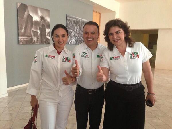 Con la Secretaria General del CEN del PRI, Ivonne Ortega y la Presidenta del  CDE PRI de Baja California. http://t.co/3bfAYhCYQf