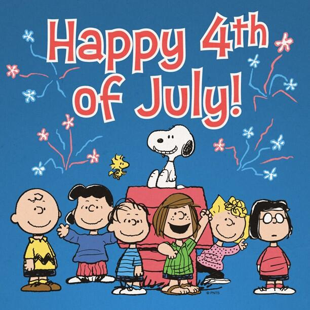 4th of july peanuts. On twitter happy th