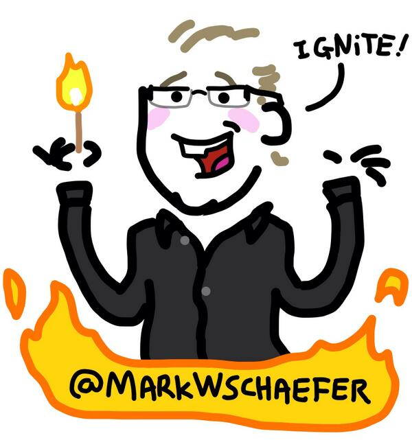 And here's my #toonswag of @markwschaefer igniting the crowd at his #ContentMTL workshop. Wonderful! pic.twitter.com/qpkgwuN8RT