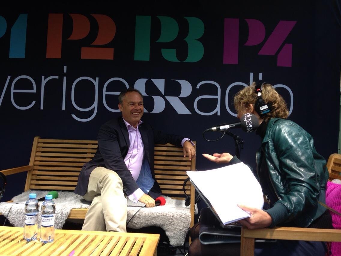 Jan Björklund på Sveriges Radios scen