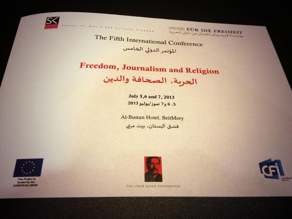 """The Fifth International Conference on """"Freedom, Journalism and Religion"""" #SKreligion http://t.co/xL38wAochK"""