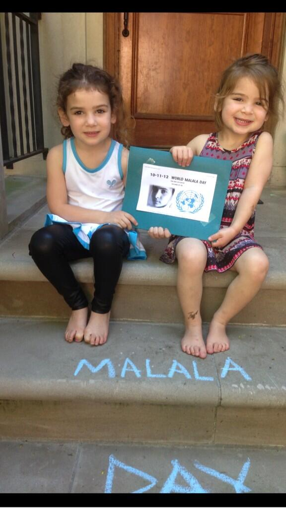 Great to see my kids celebrating #MalalaDay in #Chicago while I'm in #Russia @unfoundation @UN #EducationFirst http://pic.twitter.com/tyFak9hjwQ