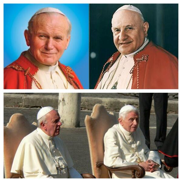 """5 de Julio de 2013: """"el día de los cuatro Papas"""" #LumenFidei pic.twitter.com/Iv9dpU7rpt"""