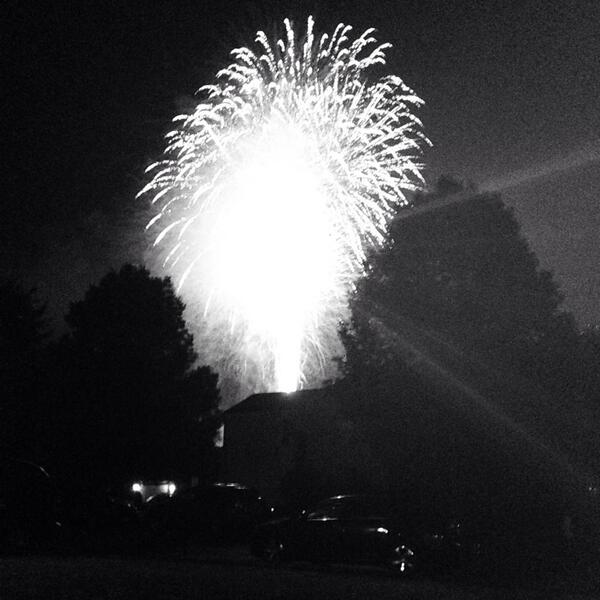 Mo and I's front yard. Perfect spot for the #Carmel fireworks. | pic.twitter.com/kqn0jv3CS3
