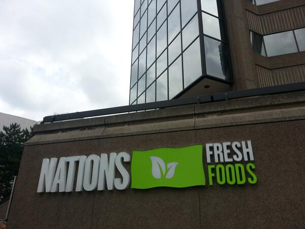 Nations Fresh Foods sign