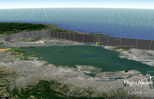 Approach profile of #Asiana flight 214 that crashed at #SFO: pic.twitter.com/g9CkLQsw9m