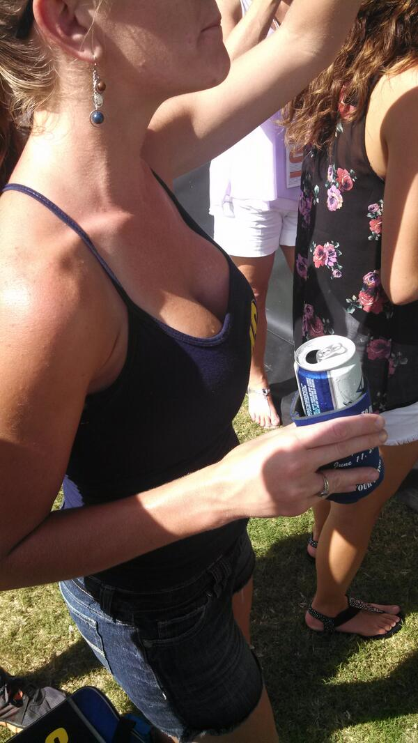 image Breasty girl amateur rubbing the clit
