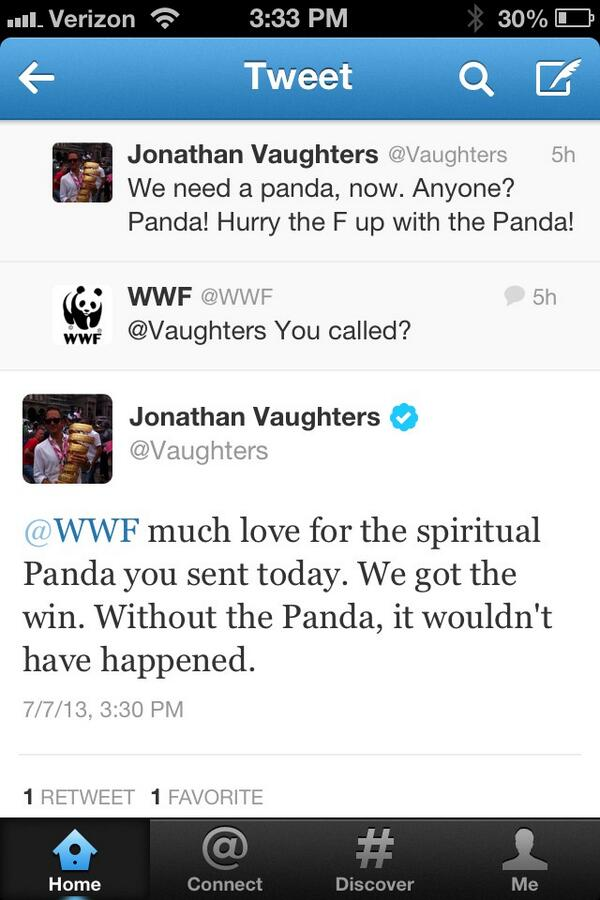 @_mmmaiko_ did you see this exchange btwn @Vaughters and @WWF ? #panda pic.twitter.com/z5h13Fv6yU