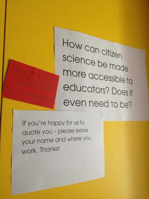How can #CitizenScience be made more accessible to educators? How about students/young people? pic.twitter.com/J4SWpvky4J