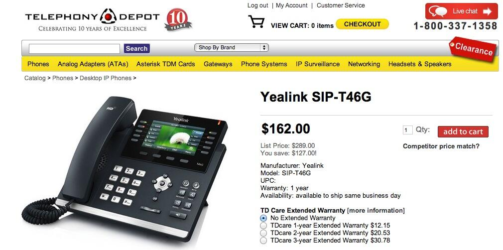 PIONEERS - Yealink T46G phone | PIAF - Your own Linux-based PBX