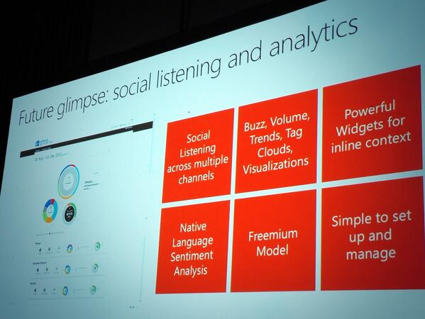 #Social Listening available soon for  #msdyncrm via #netbreeze ! This is a game changer #wpc13 pic.twitter.com/x3QOlm4Eyn
