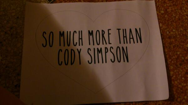 """so much more than Cody Simpson"" #paradisetour #8dayssurfersparadise http://t.co/BwuzDLNIIp"