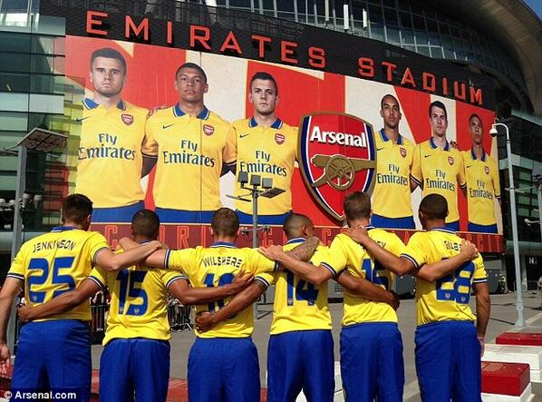 Arsenal release a promotional video for the launch of their new away kit