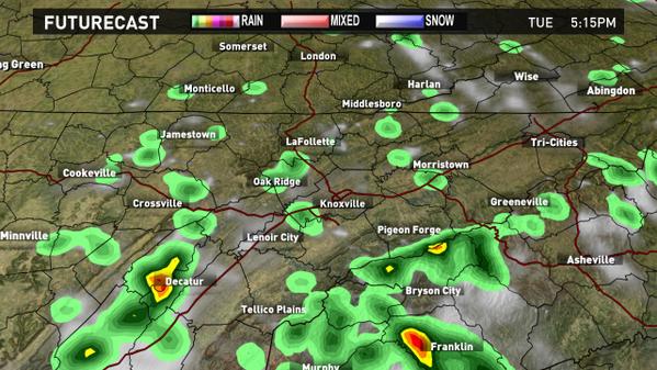 Wbir Weather On Twitter Futurecast Radar Depiction At 5pm Today