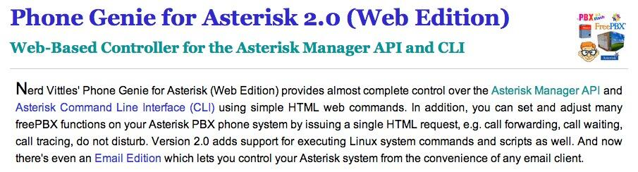 SOLVED - Phone Genie w/ Asterisk 11   PIAF - Your own Linux-based PBX