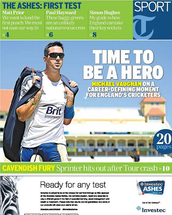 The 2013 Ashes  - Magazine cover