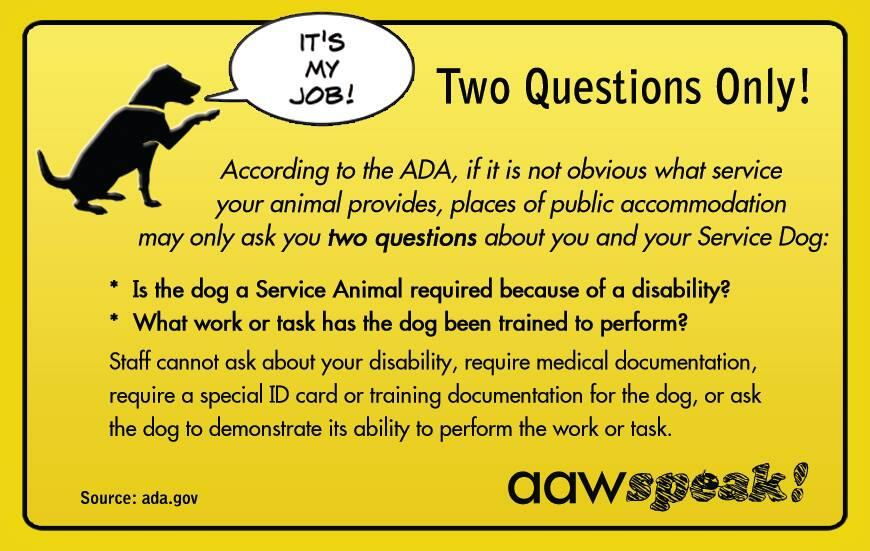 Service Dog Registry On Twitter Quot Did You Know Business