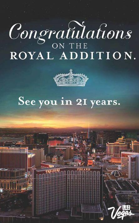 "We'd like to extend an invitation to the royal newborn. #RoyalBaby ""See you in 21 years"" pic.twitter.com/JYckJAoOdF"