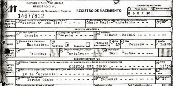 Radamel Falcao releases his birth certificate to prove he is 27 years old