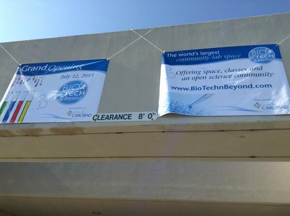 Grand opening @biotechbeyond in carlsbad #hyphdus pic.twitter.com/pvTp3va39b
