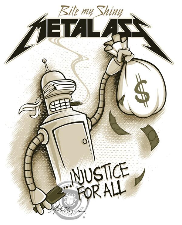 Futurama Point On Twitter Futurama At Metallica Bender In