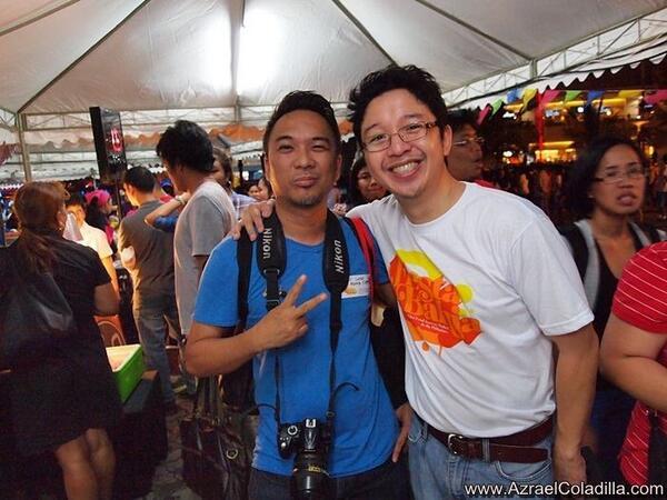 Juan Manila Express with RJ Ledesma, Co-founder, Mercato Centrale Group at Fiesta Bahia opening night. Photo by Azrael Coladilla of www.AzraelColadilla.com.