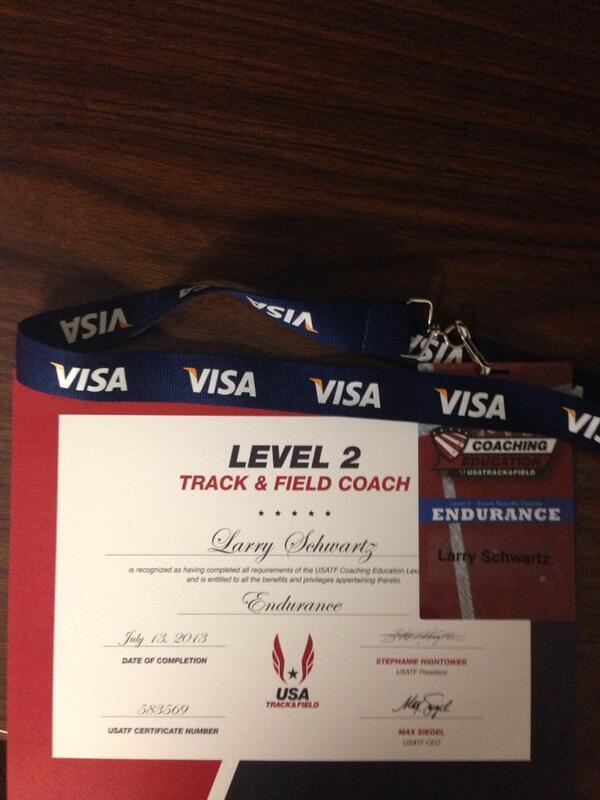 Larry Schwartz On Twitter Usatf Level 2 Coaching Certification Now
