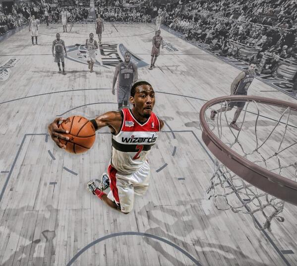 John Wall with a behind the back, self a...