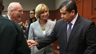 Lawyers congratulate George Zimmerman after not guilty verdict. (Orlando Sentinal) bit.ly/sIUXA pic.twitter.com/NwqKIGH2fY