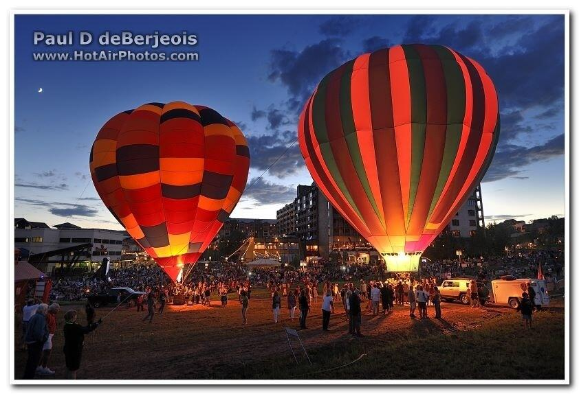 Twitter / SteamboatCO: Hot air balloons lit up the ...