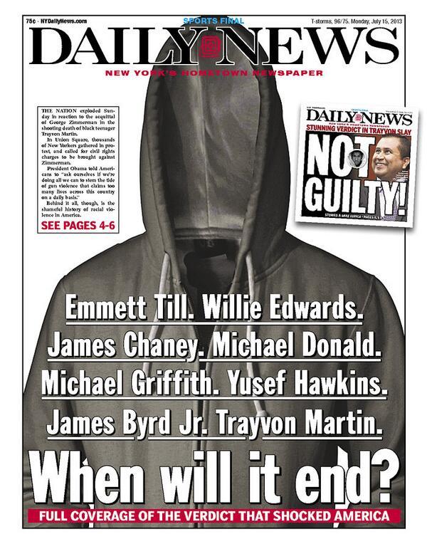 that's some front page. #Zimmerman #TrayvonMartin http://t.co/L3ZHBim0xx (via @Azi)