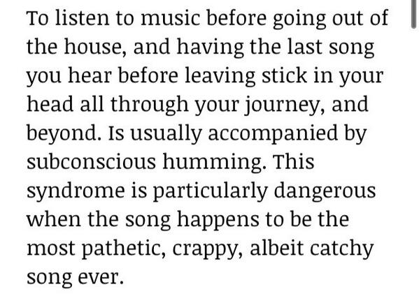 What is last song syndrome