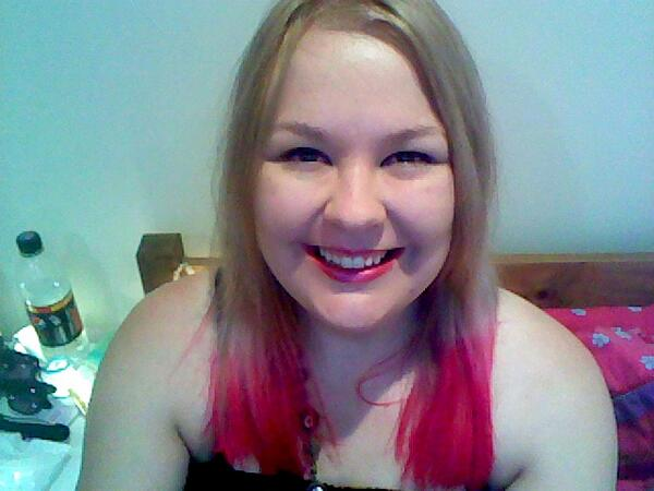 Me with pink hair