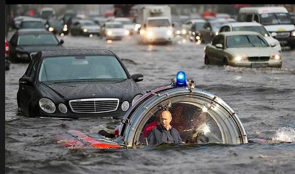 - Что случилось с Россией? - Она утонула!