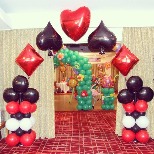 """Birmingham Balloons On Twitter: """"Casino / Queen Of Hearts"""
