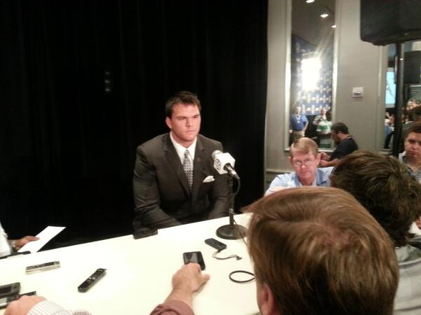 All-American Jake Matthews: There's a lot of pride playing on our offensive line. http://pic.twitter.com/QildlcLlwc