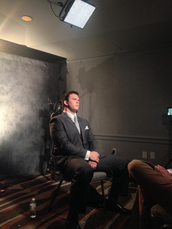 Jake Matthews interviewing with FOX Sports. #SECMediaDays http://pic.twitter.com/wAGj3LN6T9