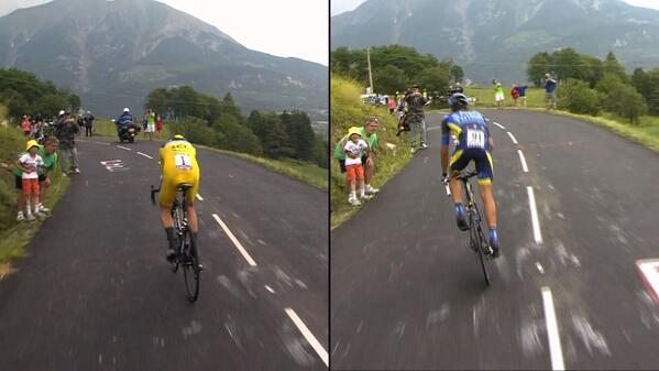 Pic: Froome and Contador show their different styles #TDF pic.twitter.com/L5jHLvLWvX