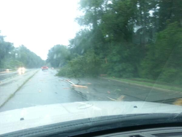 Tree in the road on Farrow Road. @wis10 @columbiasc #storm pic.twitter.com/Ud7brUrcnS