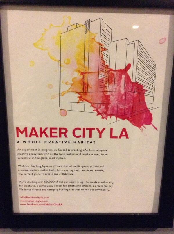 Makercity LA A whole créative habitat pic.twitter.com/uDiKtdFlXd