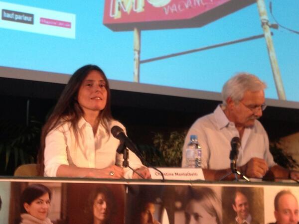 Christine Montalbetti converse avec Alain Nicolas. #EBDM2013 http://pic.twitter.com/kXDtIF6dCQ