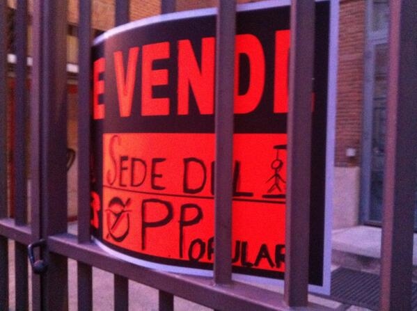 """Se vende. Sede del Partido Popular"" #BarbacoaDestituyente pic.twitter.com/xTwFIXNYq9"