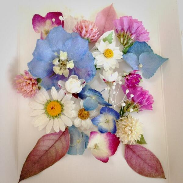 レカンフラワーの作り方♡花の宝石箱☆最先端の押し花!