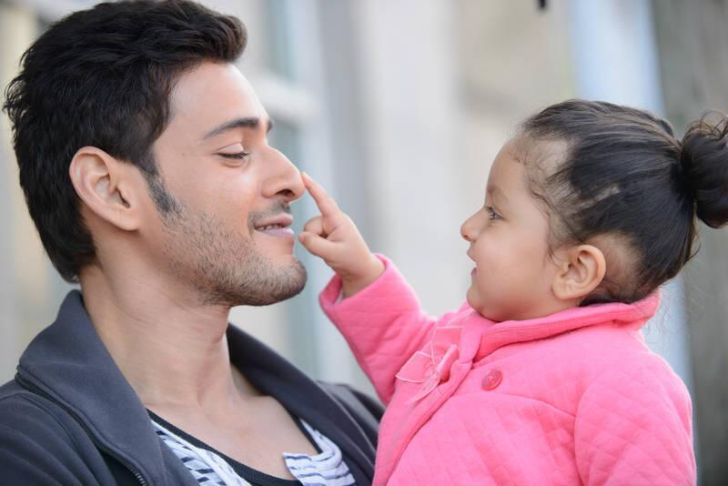 Mahesh Babu On Twitter She Loves My Nose My Daughter Turns 1