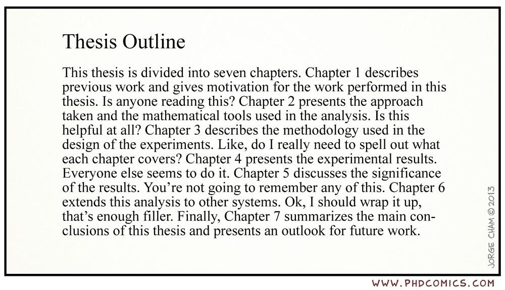 thesis proposal chapter outline